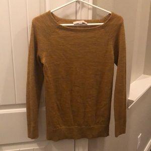 Mustard Yellow Loft Sweater, size Small